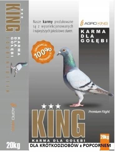 King karma dla gołębi krótkodzioby POPCORN 20kg