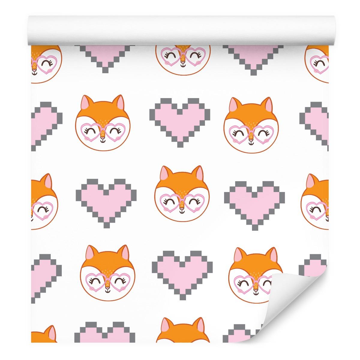 Líšky srdce deti Tapety pixelové okuliare
