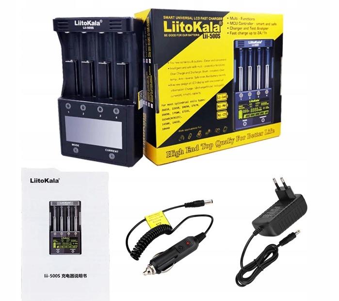 LiitoKala Lii-500S Ładowarka akumulatorów Li-IonAA Kod producenta Lii-500S