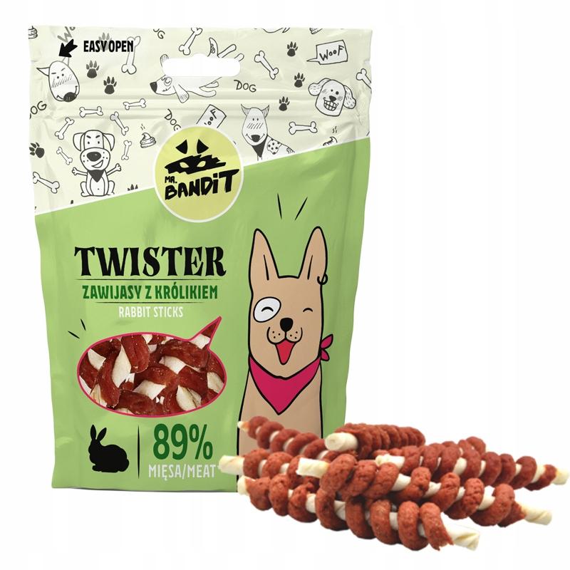 Палочки для еды прорезывателя для собак, завернутые в мясо кролика 500 г