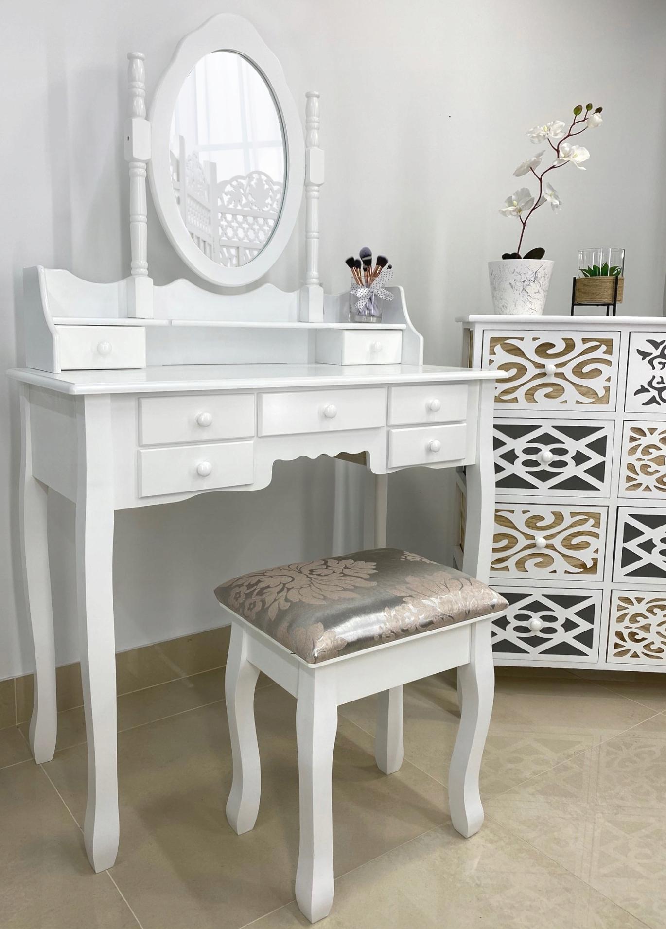 ТУАЛЕТ КОСМЕТИЧЕСКИЙ ГРАФИК ЗЕРКАЛЬНЫЙ СТОК!  Цвет мебели Белый
