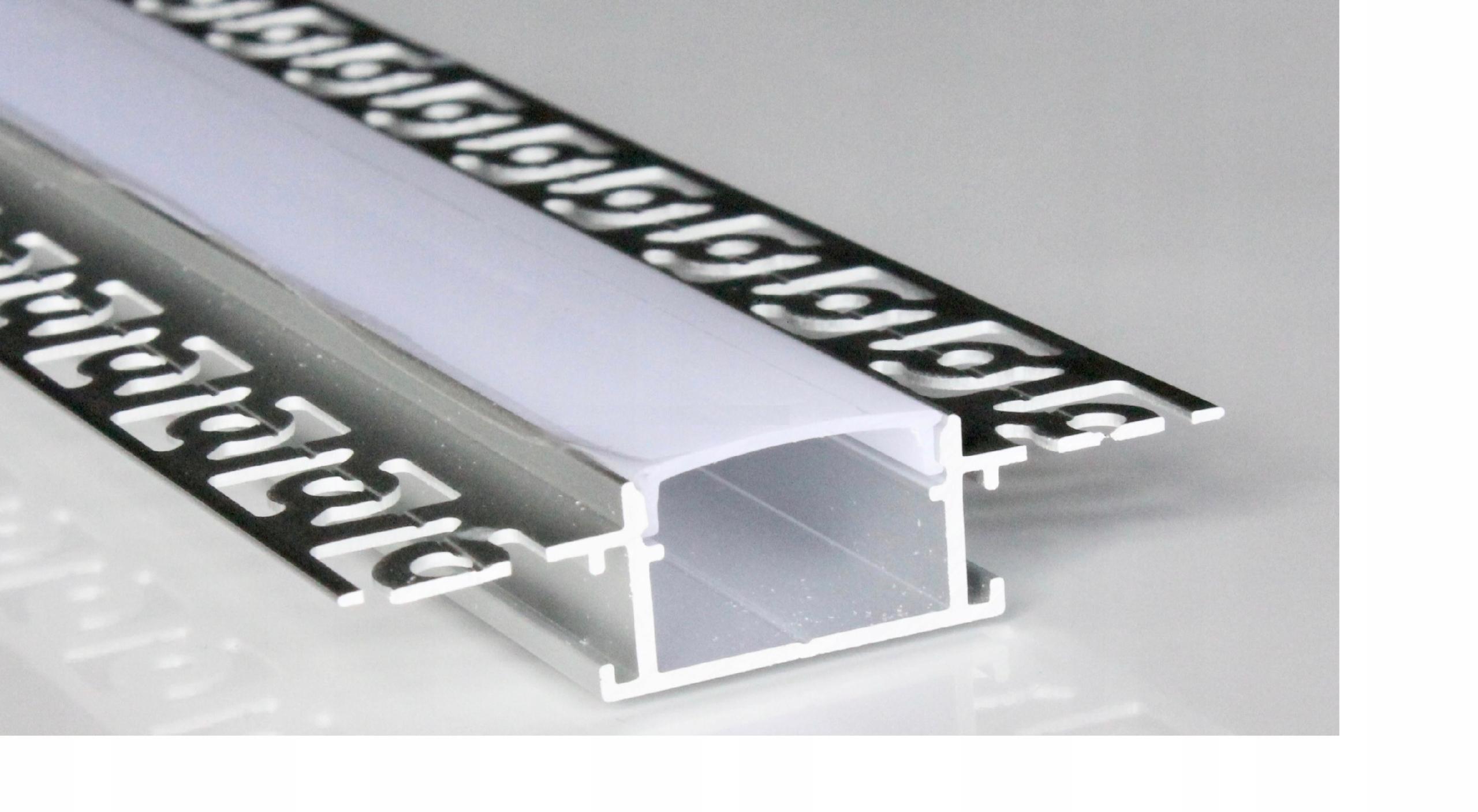 Анодированный алюминиевый светодиодный профиль, широкий, 1м кг