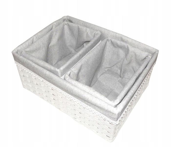 Корзина плетеный g70b белая ящик контейнер корзина