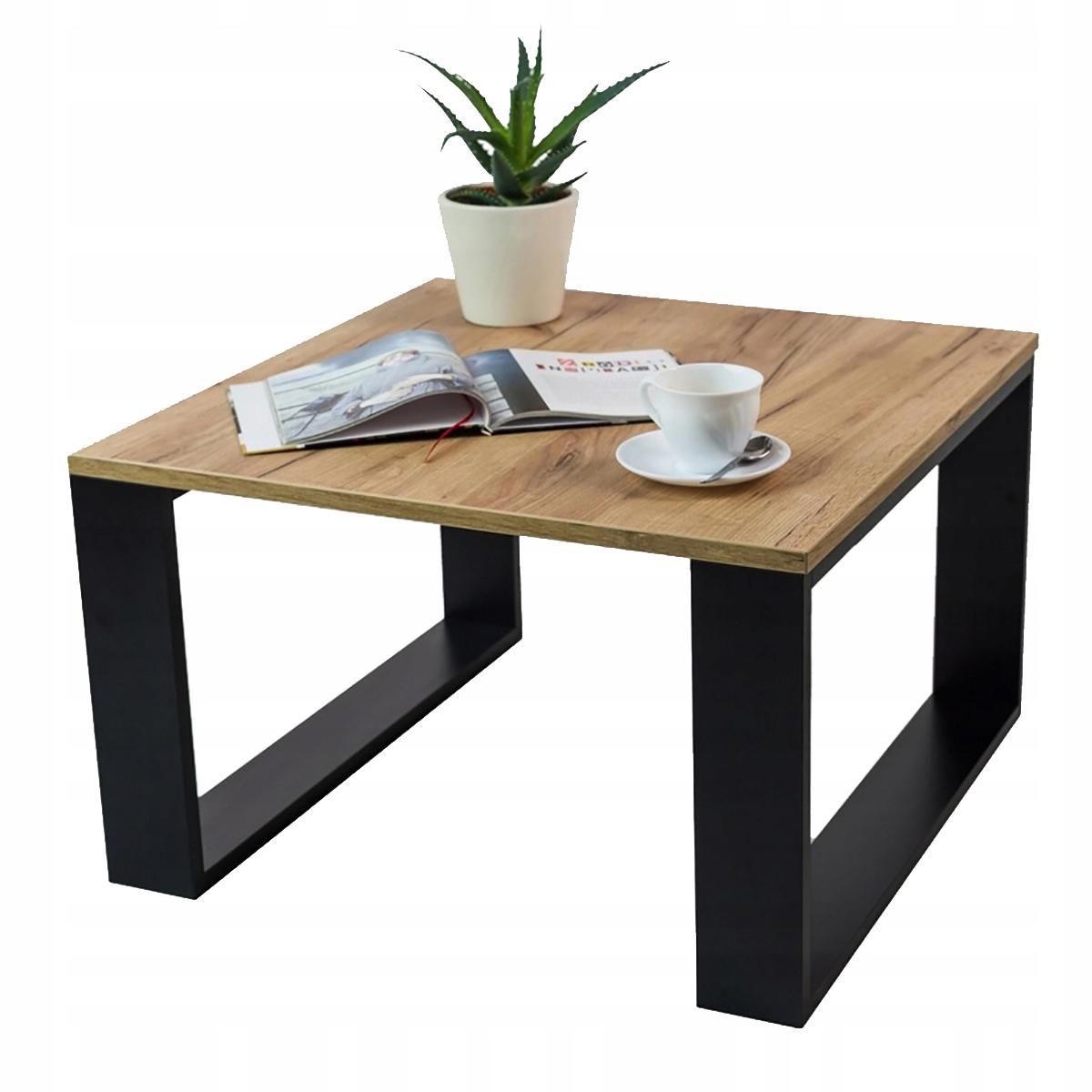 Журнальный столик журнальный столик черный / дуб для гостиной лофт