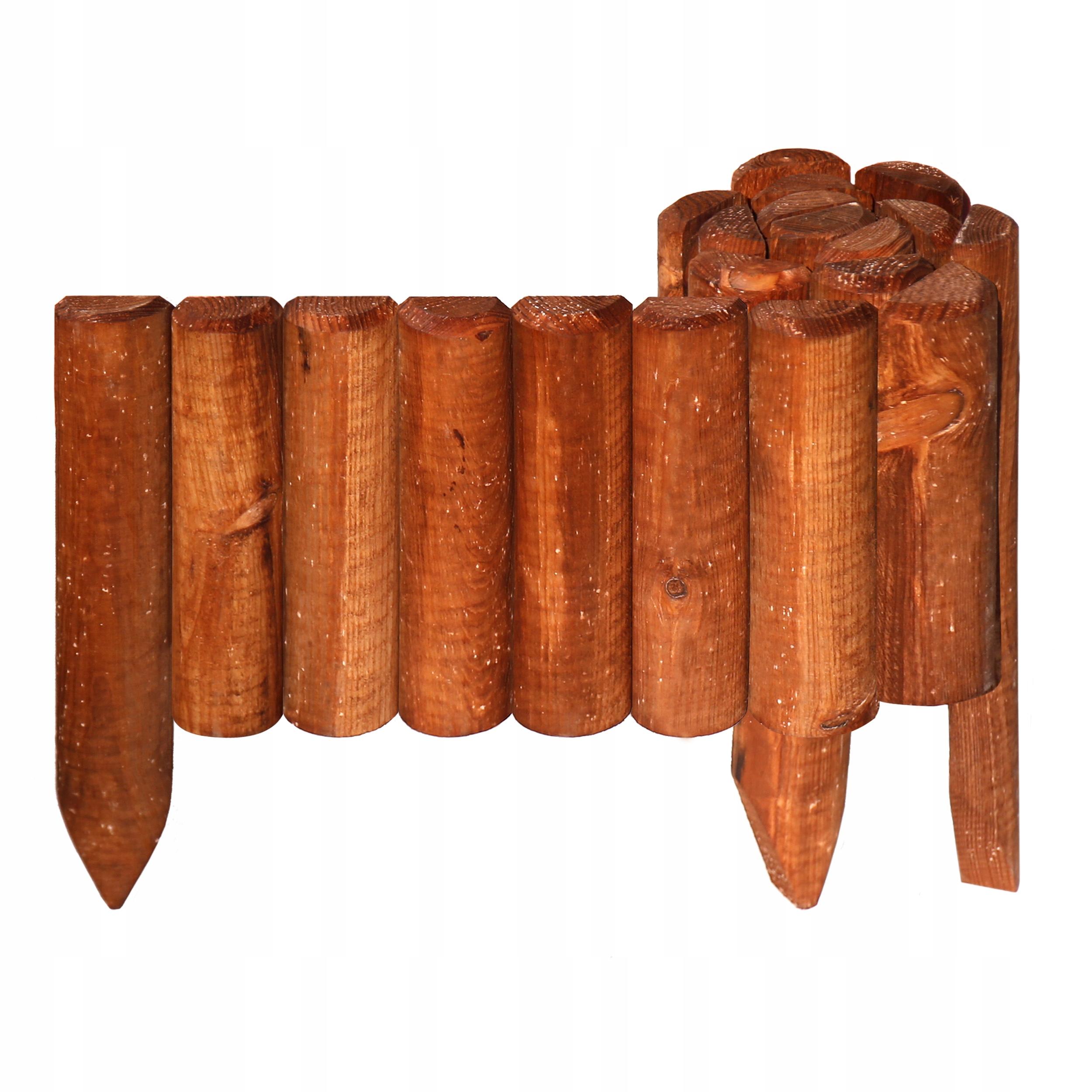 Rollborder drewniany obrzeże palisada płotek ząbki