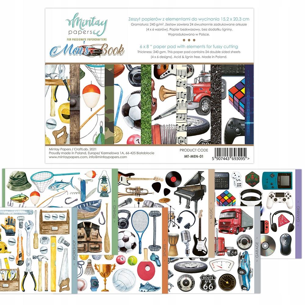 Набор бумаги Mintay Men's Book 15x20 см