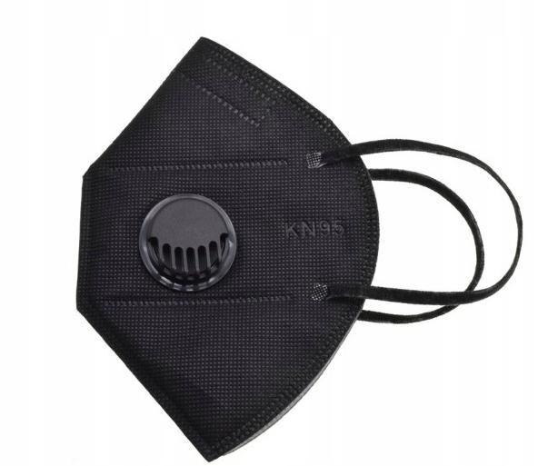 Maska Ochronna Maseczka KN95 FFP BLACK ANTYWIRUSOW