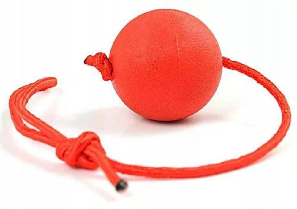 Piłka na sznurku ZABAWKA dla psa aport trening 7cm