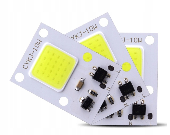 LED COB 10W 230V Biała zimna + Pasta GRATIS
