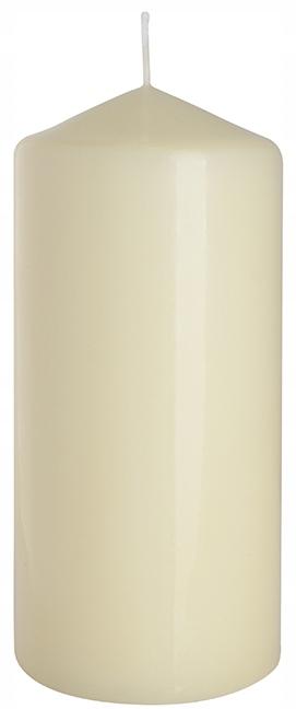 Свечи роликовые, набор из 6 кремовых, 15 см