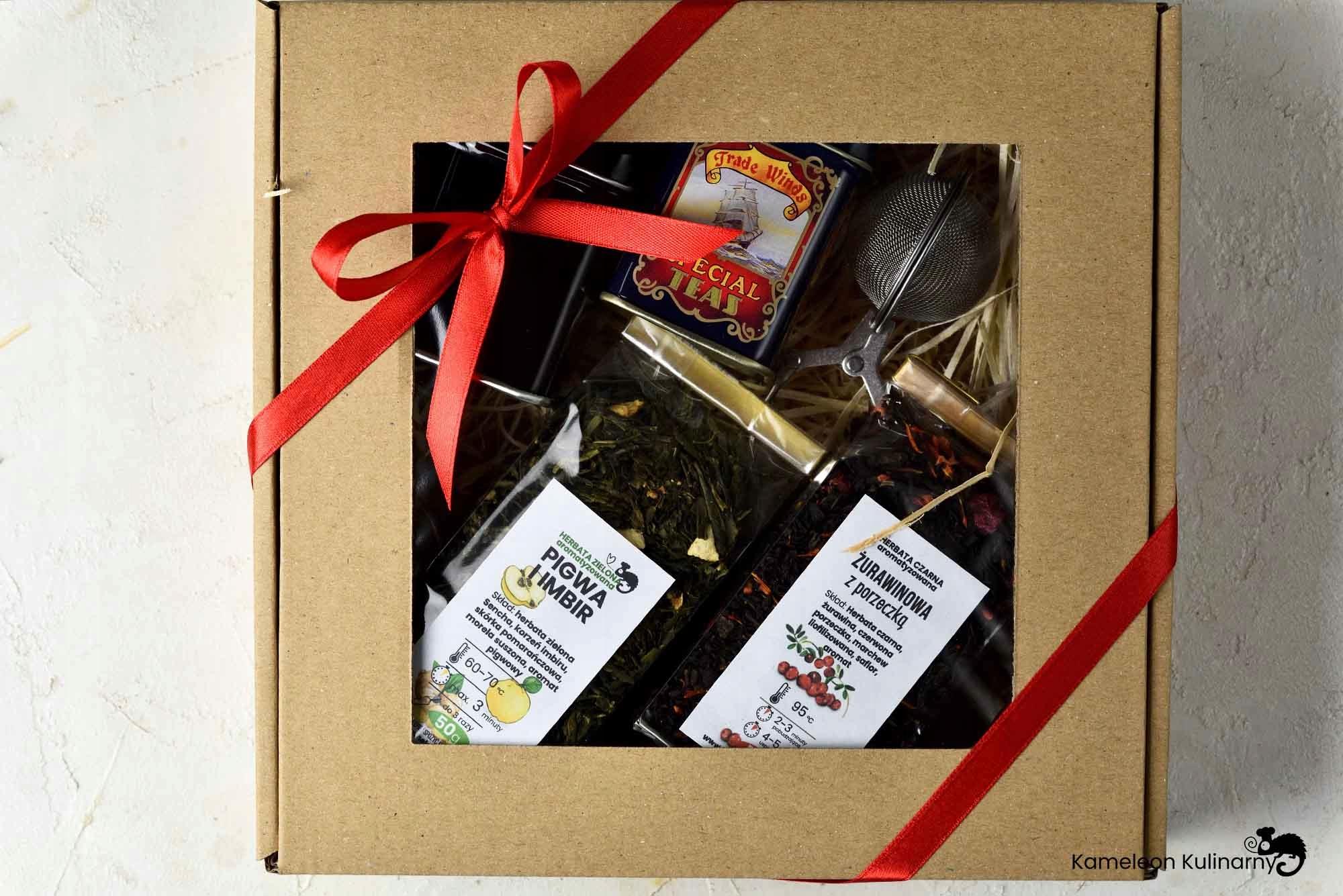 ZESTAW PREZENTOWY 2 herbaty 2 puszki i zaparzacz Kod producenta ZESTAW PREZENTOWY