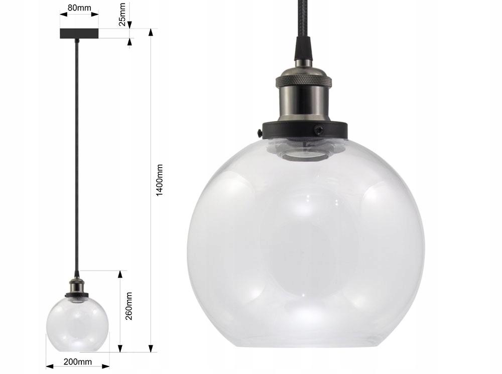 LAMPA SUFITOWA SZKLANA VASO OX ŻYRADNOL LED LOFT B Pomieszczenie Jadalnia Kuchnia Pokój dziecięcy Salon Sypialnia Uniwersalne
