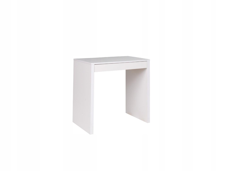 malý Stôl so zásuvkou BIELA konzoly 80x45x76