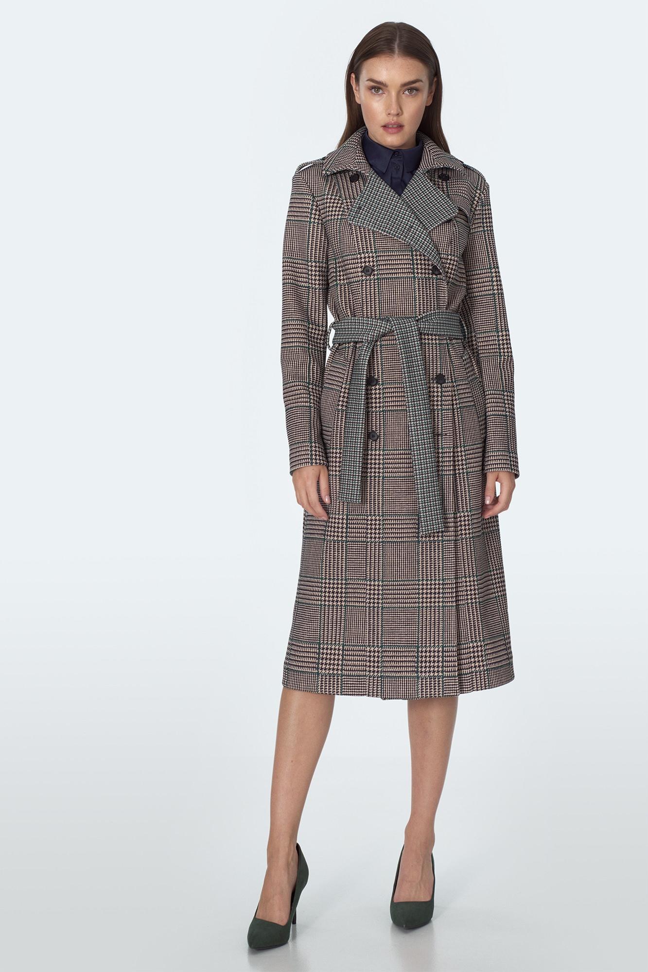 Dwurzędowy Płaszcz Elegancki w Modne Wzory M