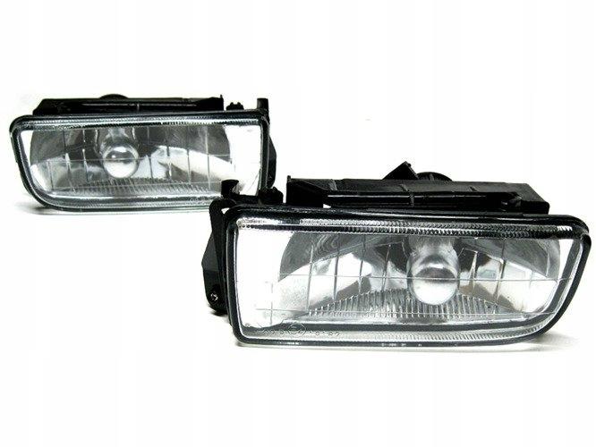 2x halogen halogeny z ramką CLEAR L+P do BMW 3 E36 2
