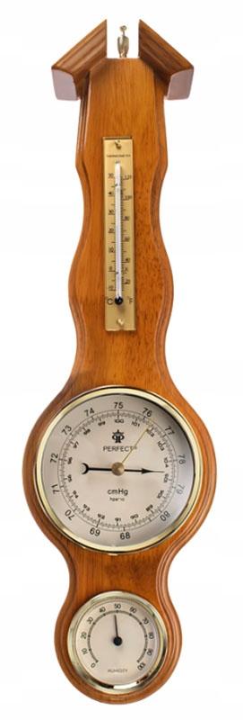 Drevený barometer meteorologickej stanice PW-977 Perfect RETRO