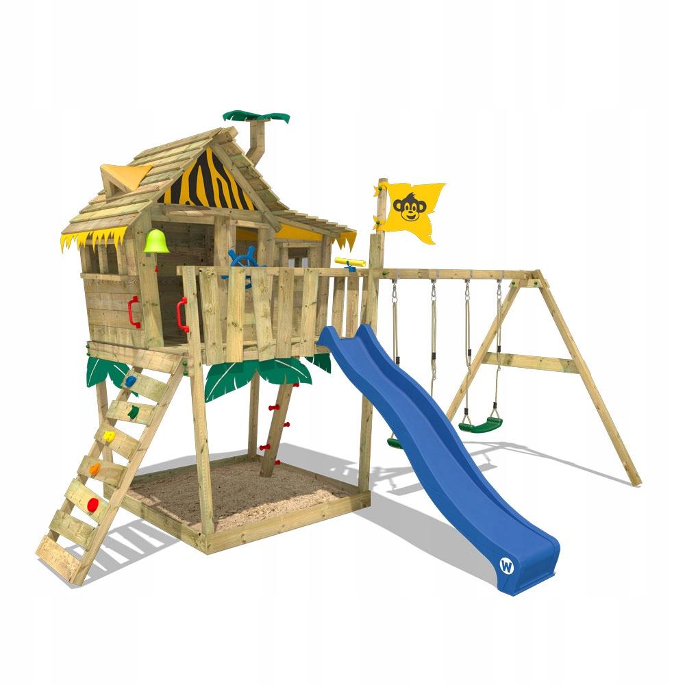 WICKEY Smart Monkey drewniany plac zabaw domek