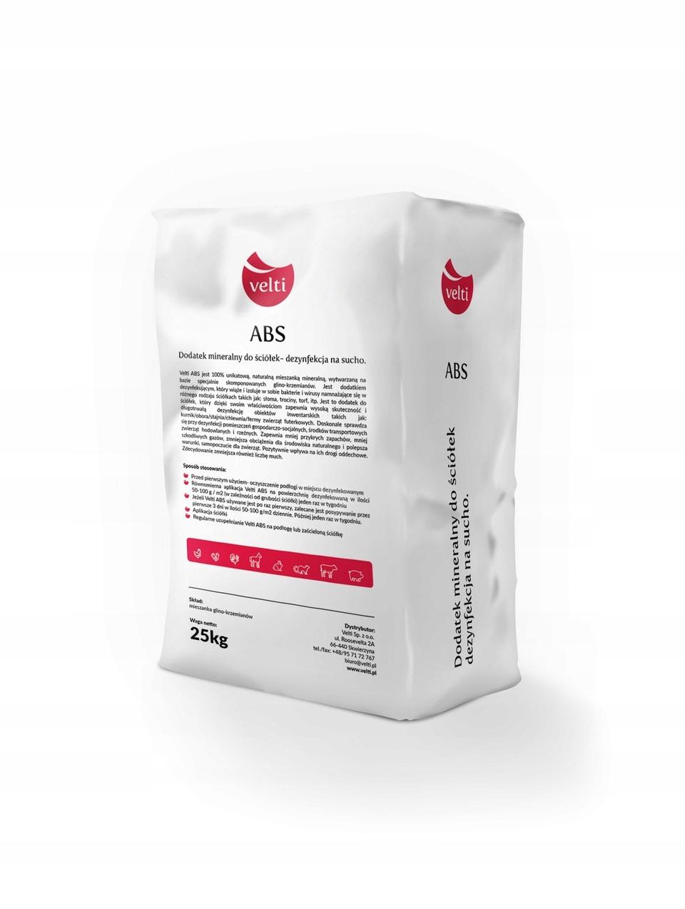 Сухая дезинфекция Velti ABS 25кг от вирусов