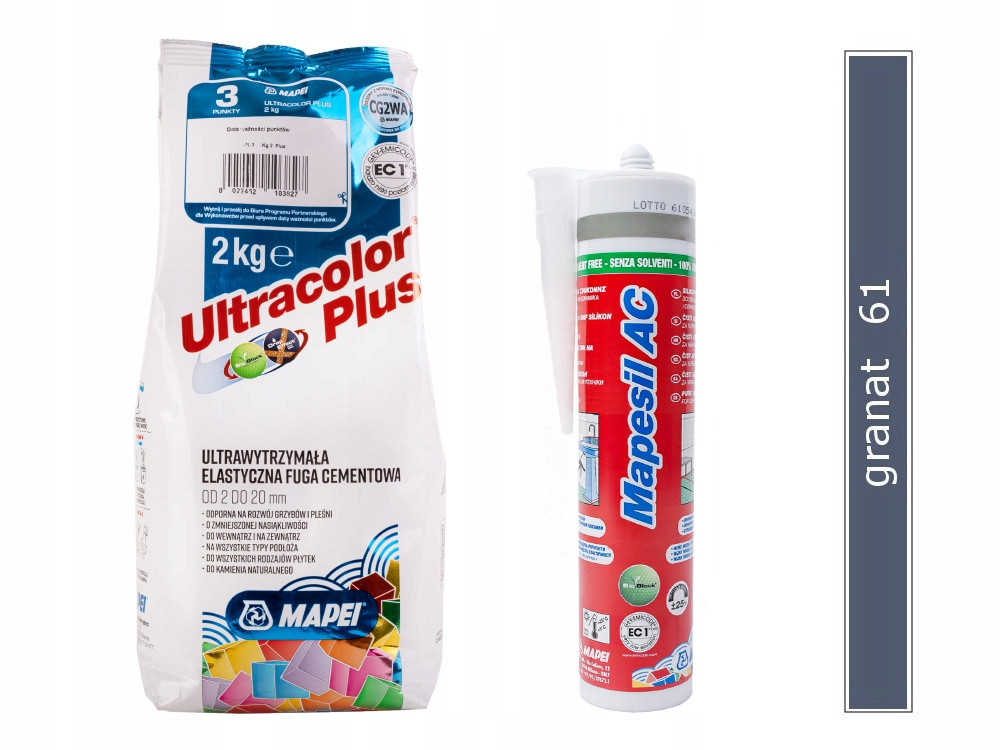 НАБОР MAPEI ULTRACOLOR + SILICONE NAVY 61