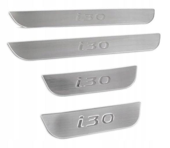 планки пороги пороги накладки hyundai i30 5d сталь