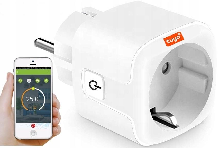 Plug Socket WiFi control Измерение TUYA SMART