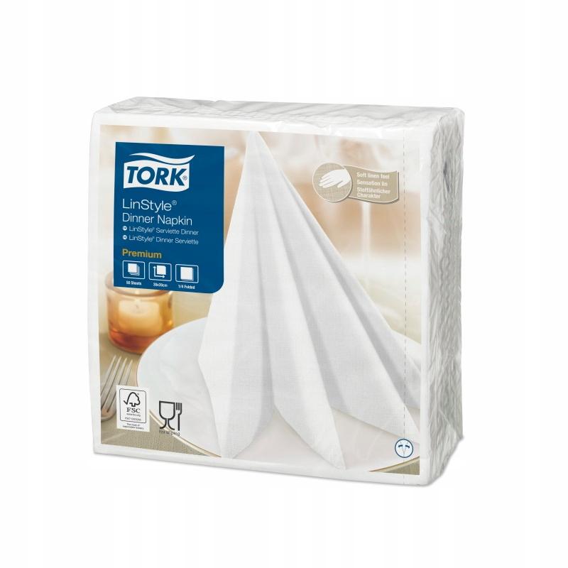 Tork LinStyle 478711 - Serwetki obiadowe - Białe
