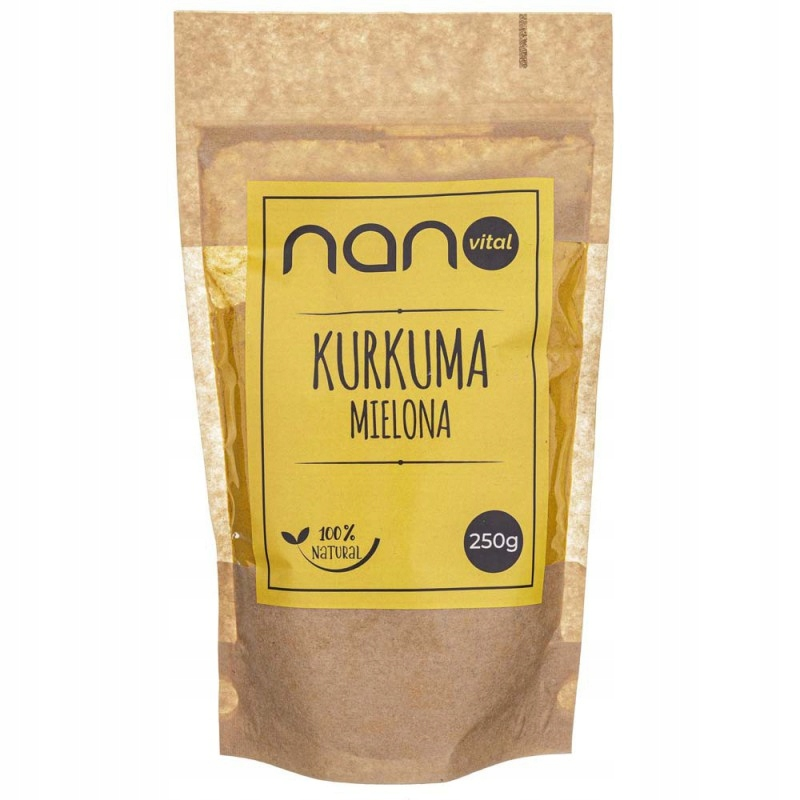 Купить Куркума молотая Nanovital 250 г на Otpravka - цены и фото - доставка из Польши и стран Европы в Украину.
