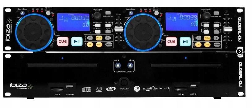 Item Player IBIZA GLOBAL DJ DUAL CD MP3 SCRATCH