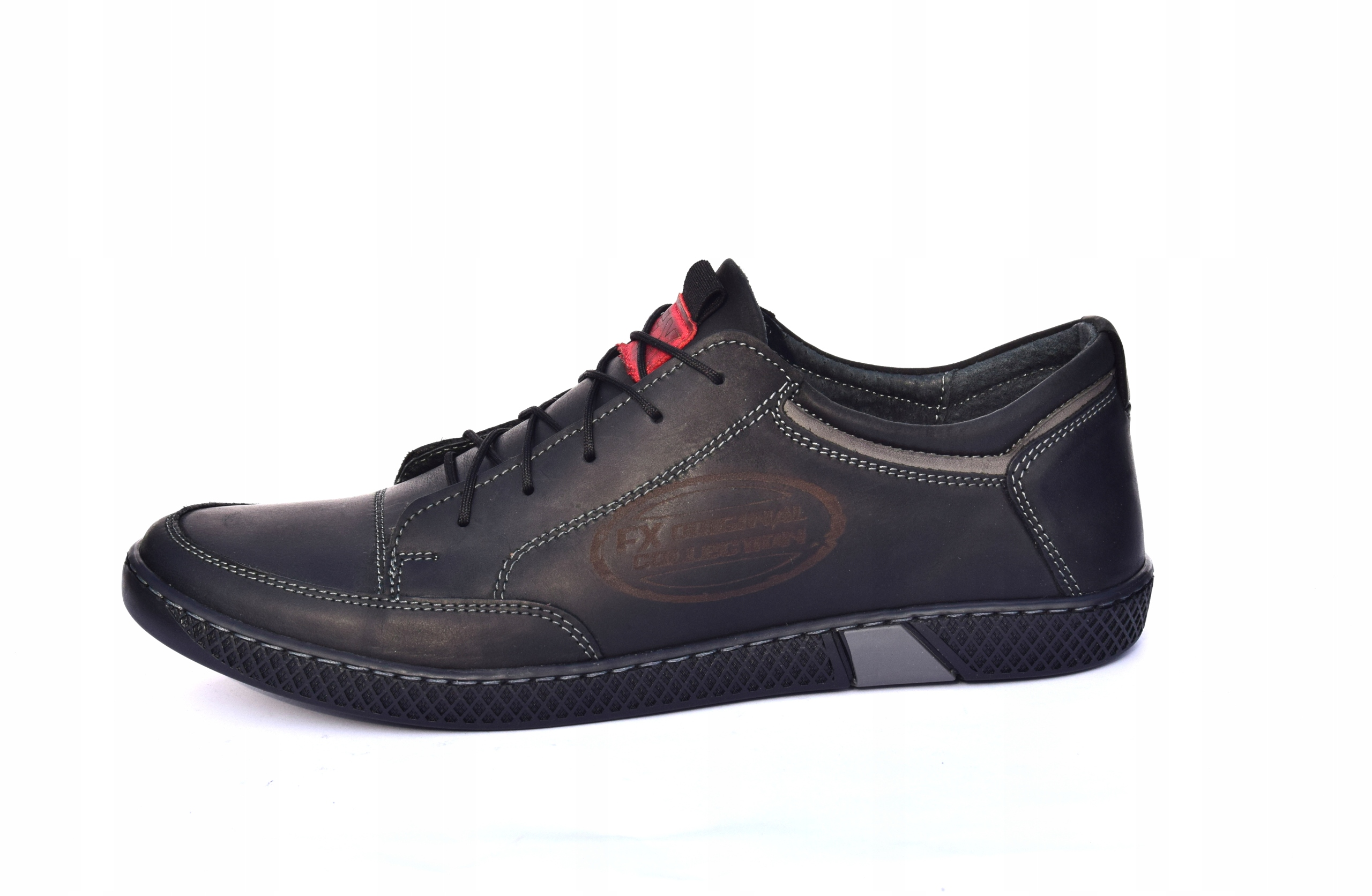 Półbuty sznurowane skórzane obuwie polskie 0447 Marka inna