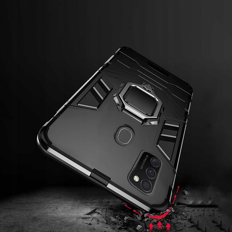 Etui Pancerne Case + Szkło do Samsung Galaxy M21 Kod producenta E141