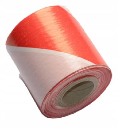Лента Оградительная Бело-Красная 70мм 100 Метров