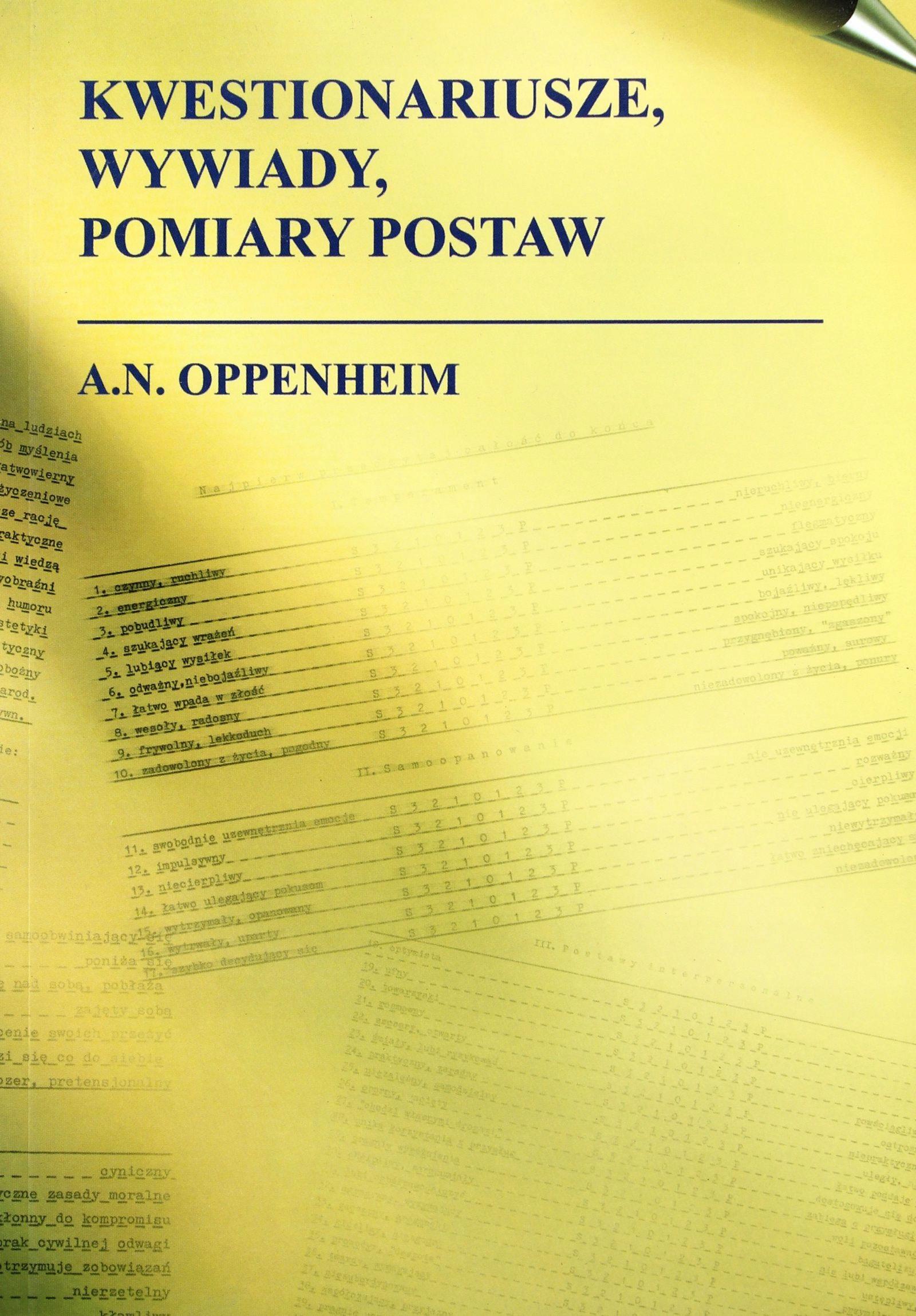 Kwestionariusze, Wywiady, Pomiary II - A.N.Openhai