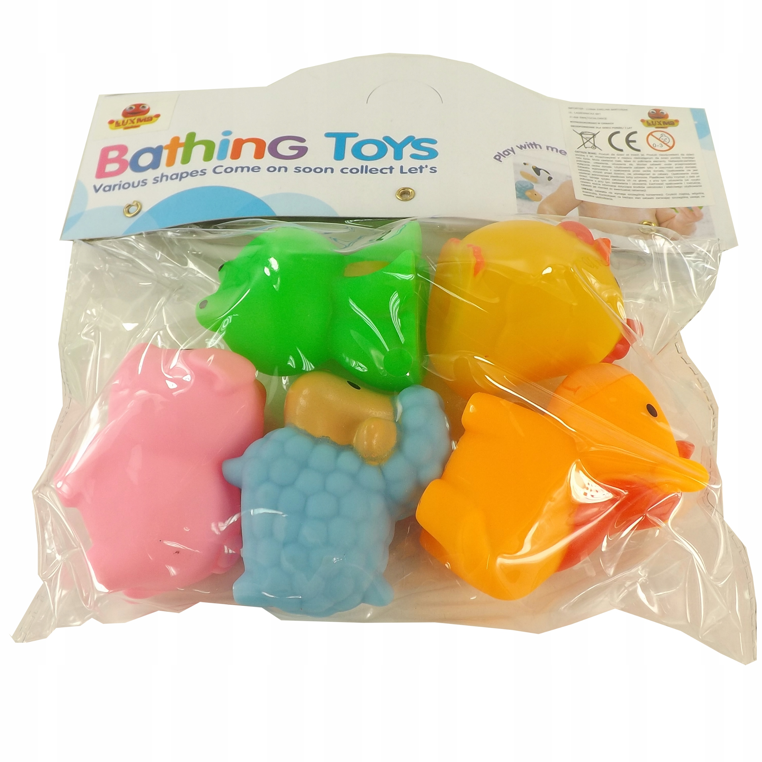 Gumowe zabawki zabawka do kąpieli FARMA 0012 Kolor dominujący wielokolorowy