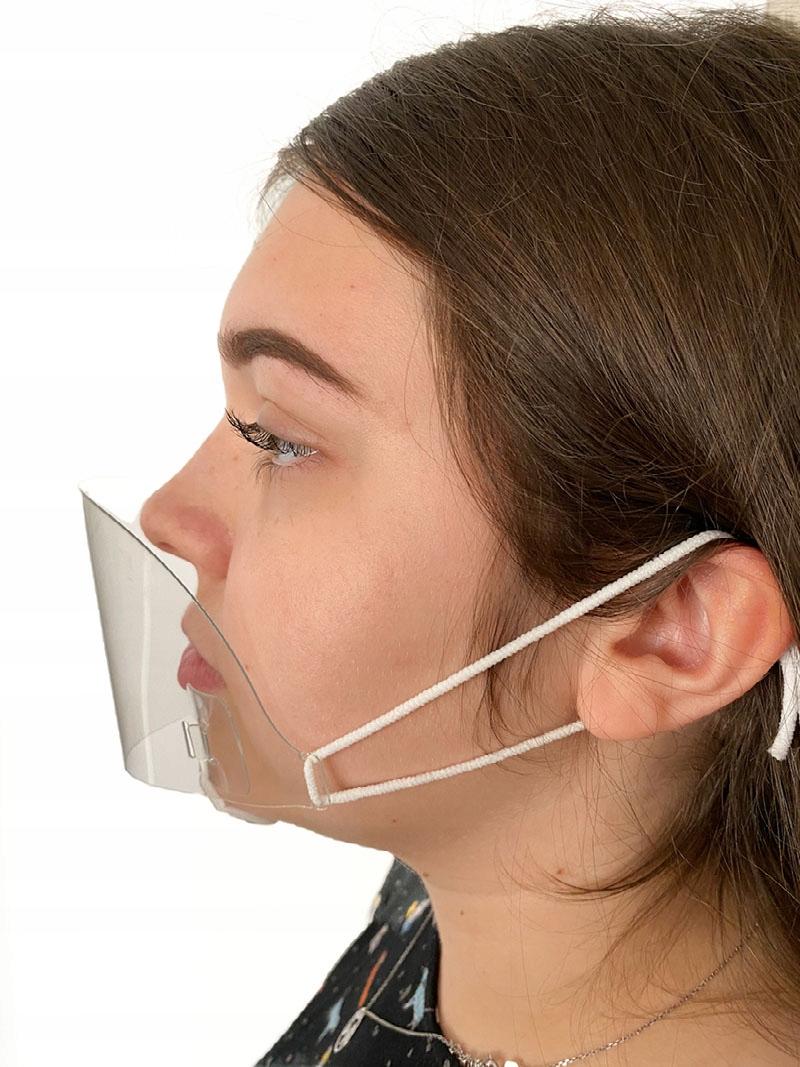 Удобная маска на половину козырек на нос и губы 0 6 мм
