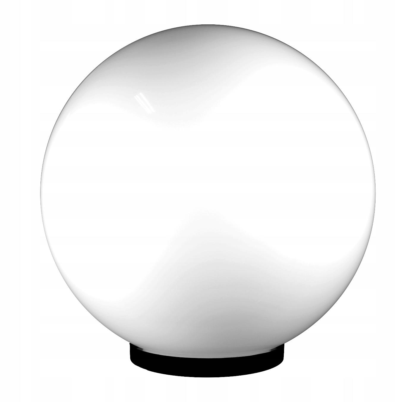 Kule ogrodowe - kula ogrodowa biała 40cm + oprawa