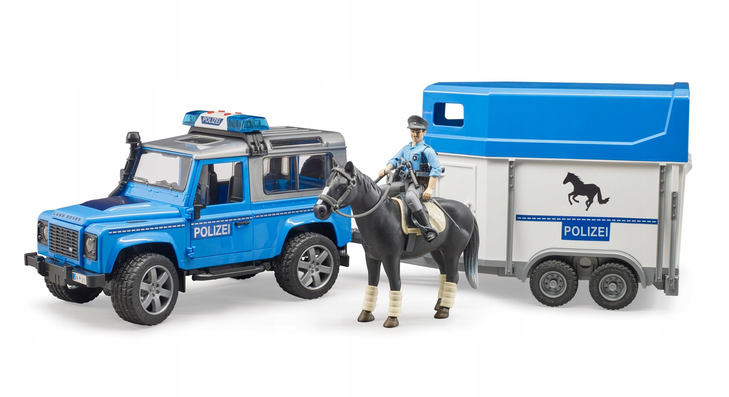 Bruder 02588 Land Rover Police s prívesom