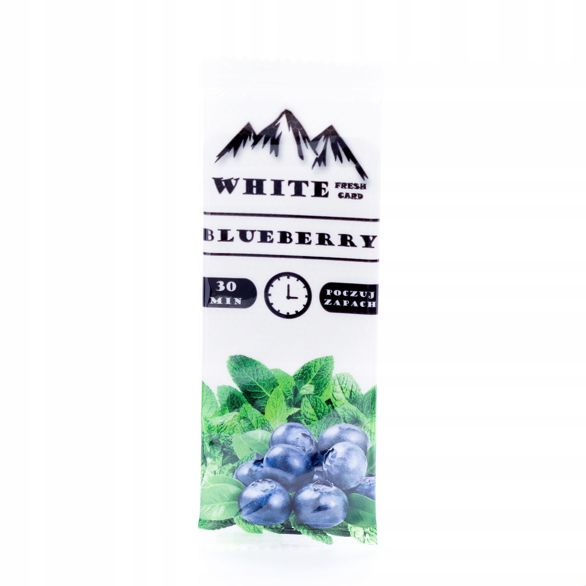 KARTA AROMATYZUJąCA WHITE-CARD BLUEBERRY 30SZT