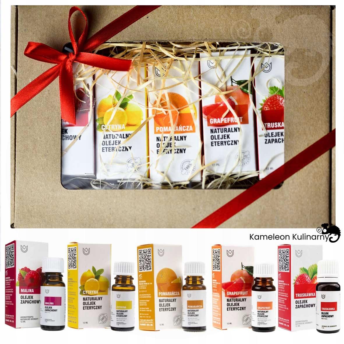 NATURALNE I ZAPACHOWE OLEJKI ETERYCZNE zestaw 5szt Kod producenta aromaterapia olejek zapachowy ZESTAW
