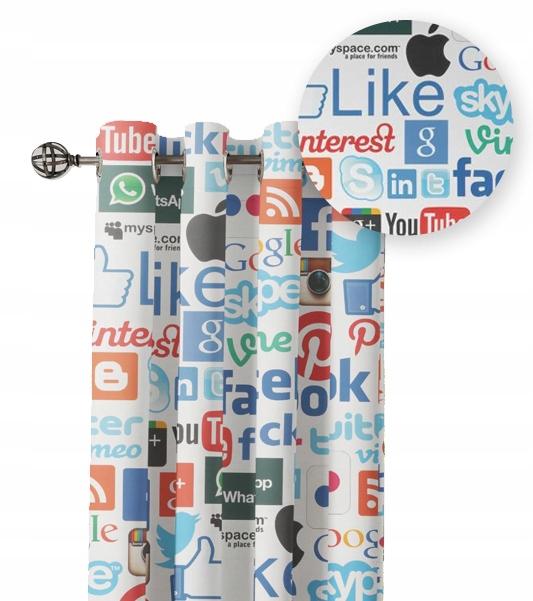 Шторы - социальные сети, Facebook, логотип, смайлики