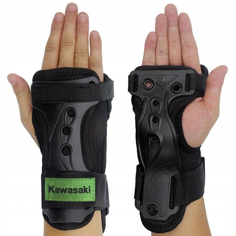 Chrániče rúk Kawasaki čierna a zelená S
