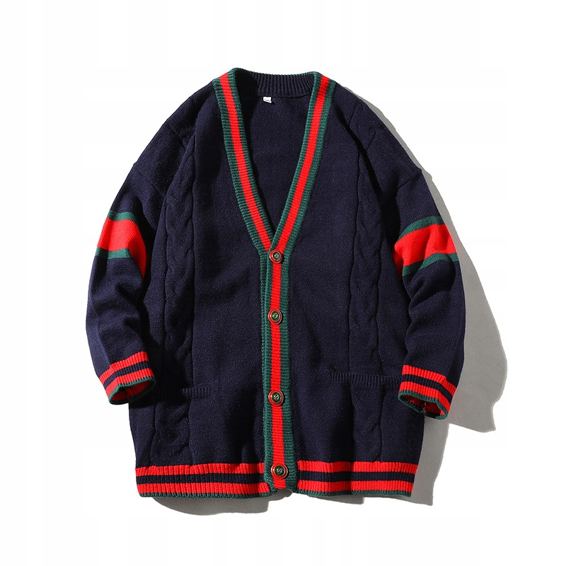 Dlhý ležérny retro sveter. Pánsky úplet