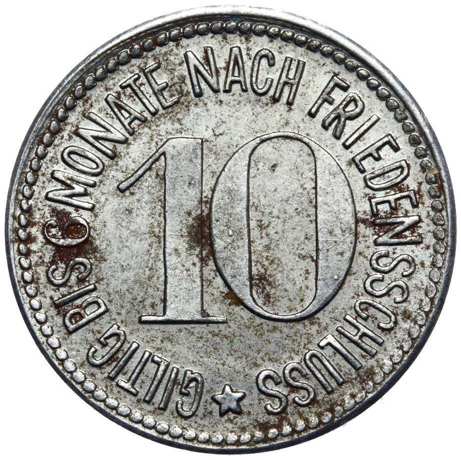 + Oberammergau - Notgeld - 10 pfennig 1917 železo