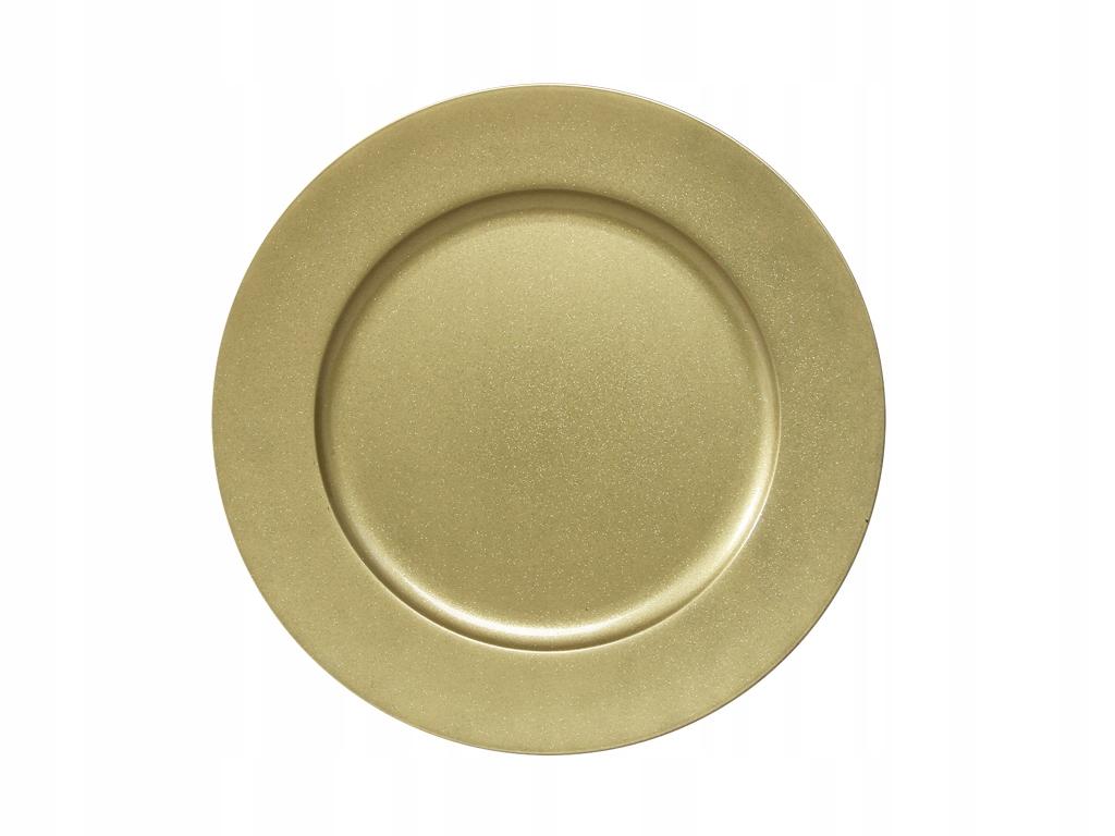 Talerz dekoracyjny DUŻY złoty 28cm/1szt.