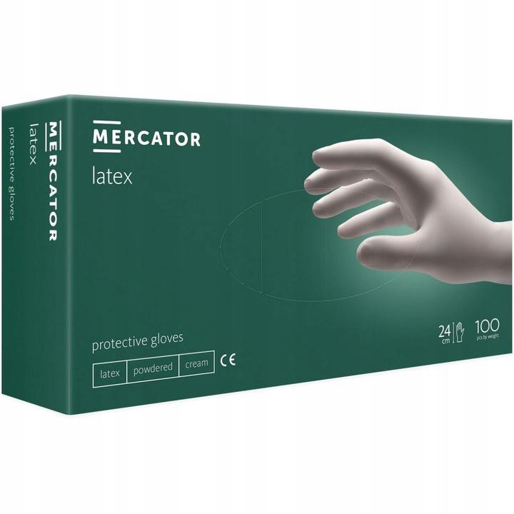 Латексные перчатки 100шт L