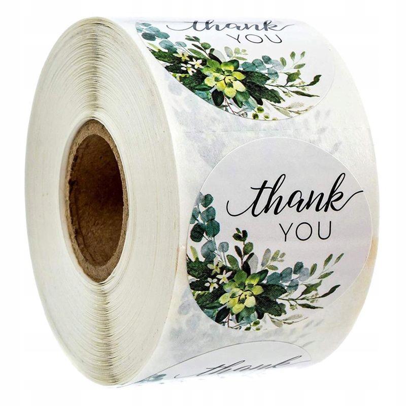 Декоративные наклейки Спасибо - дизайн 6, 500 шт.