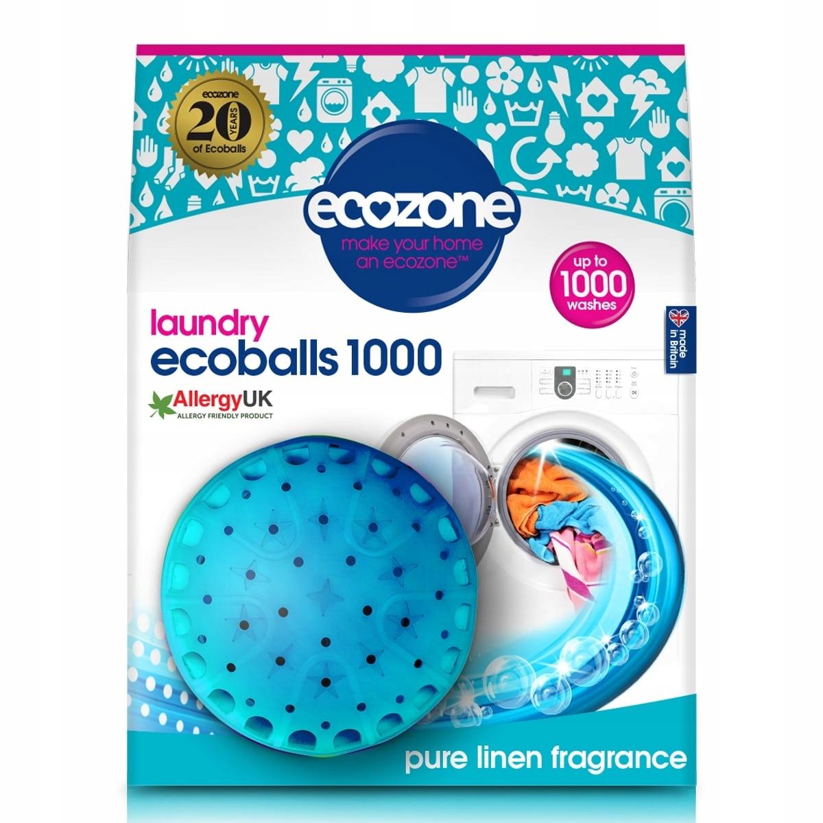 Ecoballs, Misy na Pranie, Čistá bielizeň, 1000 Umývanie