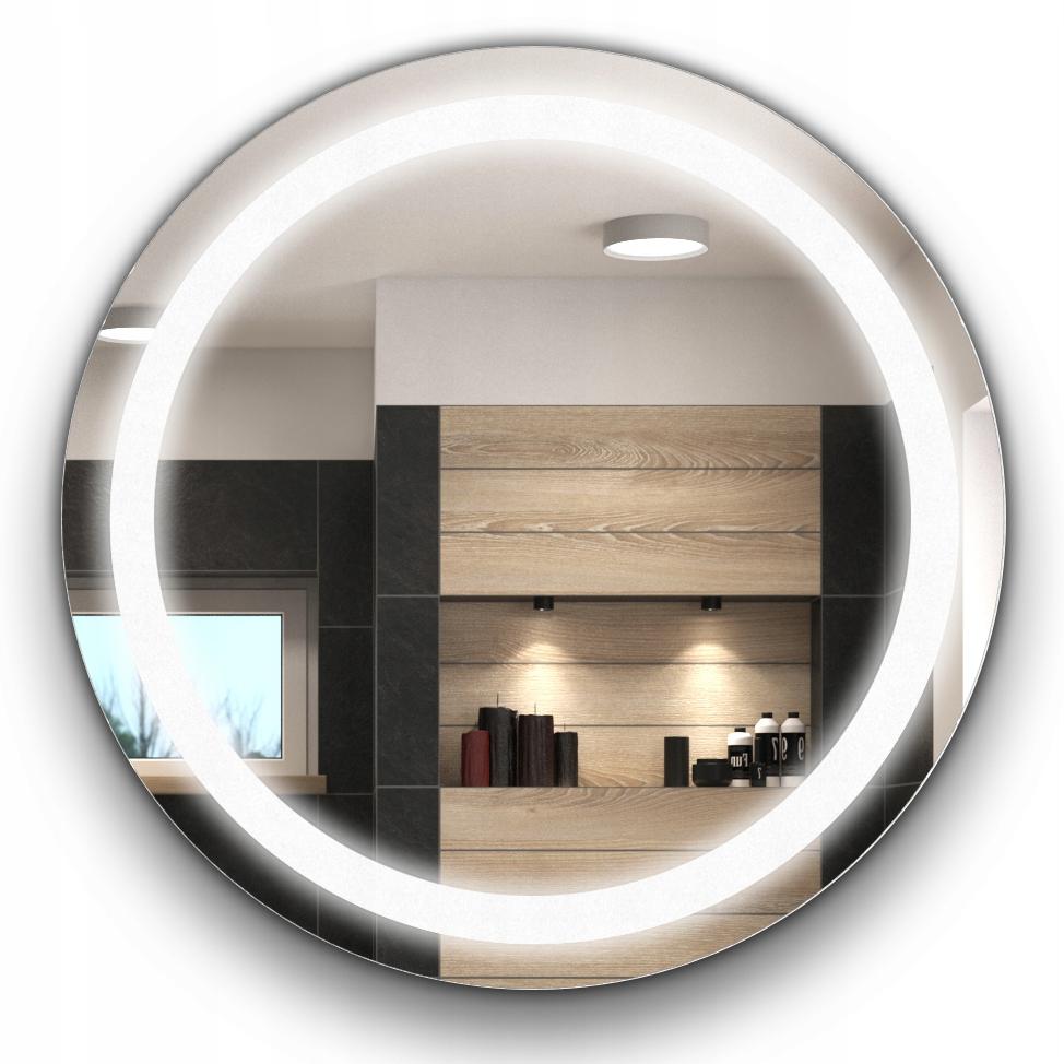 Kúpeľňové LED zrkadlo, okrúhle 60 cm, osvetlené 33