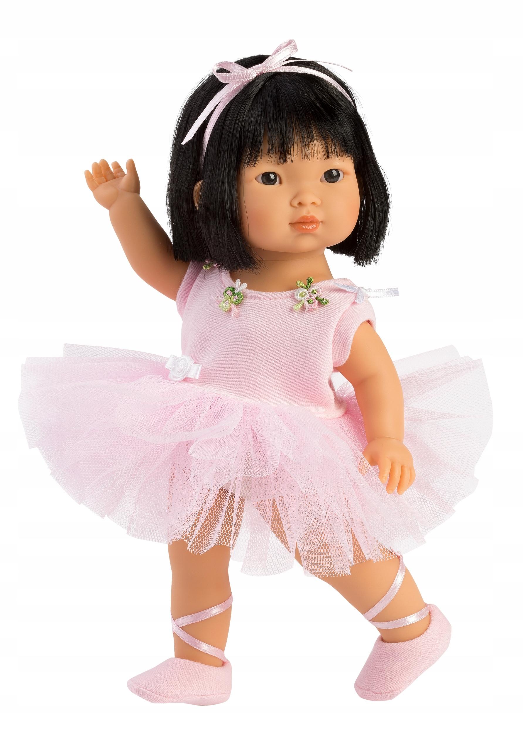 Španielska bábika Llorens Lu s kvetinami