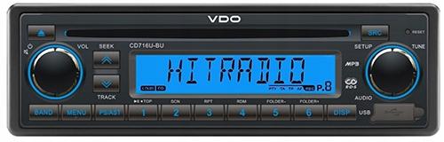 VDO CD716U-BU, autorádio MP3 USB, Retro