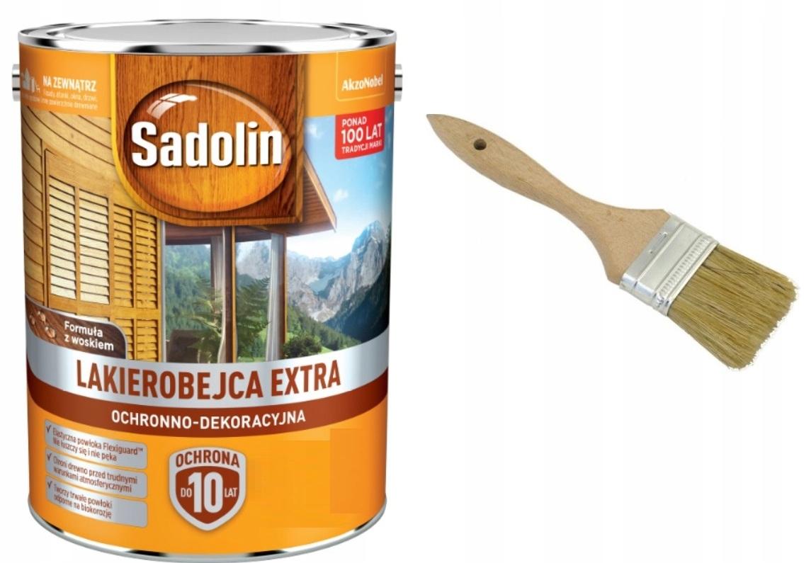 SADOLIN EXTRA- морилка, ЦВЕТА, 5 л + КИСТЬ
